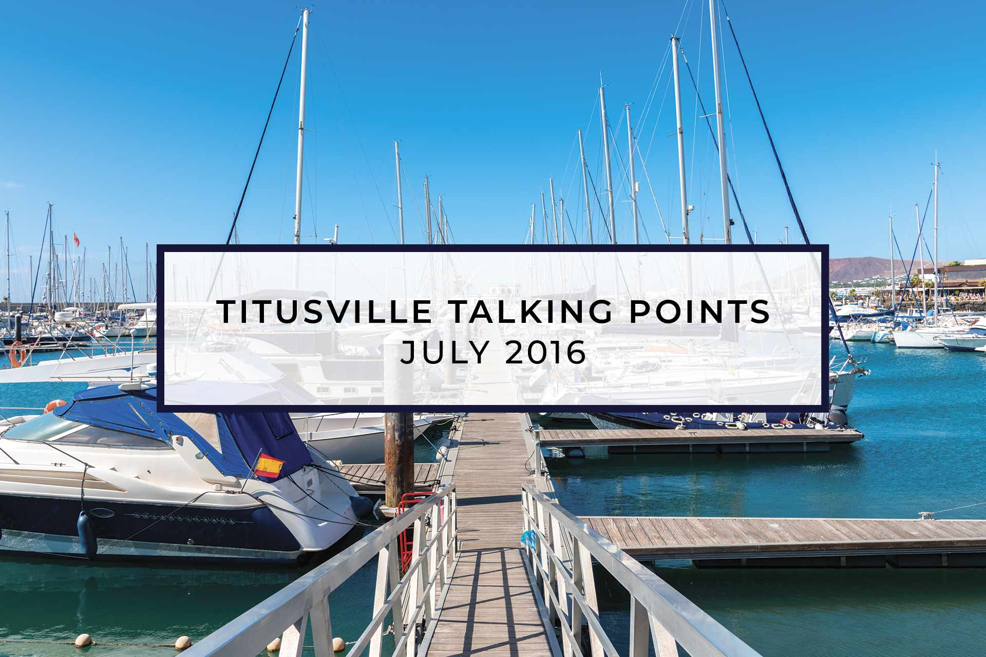 TITUSVILLE MARINA PROFESSIONALLY MANAGED BY F3 MARINA